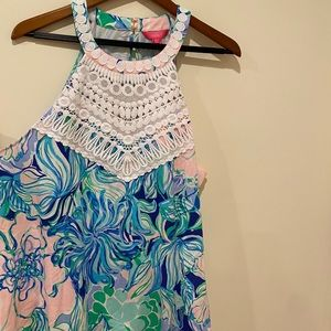 NEW Lilly Pulitzer Dawn halter-type top. XL Blue